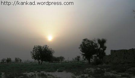 सूरतगढ़ के पास... दिन निकलता हुआ...