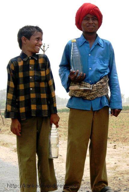 ग्रामीण बच्चों के लिए खेत भी उतने ही जरूरी हैं जितने स्कूल. आमतौर पर स्कूल से छूटते ही बच्चे खेत जाकर काम में हाथ बंटाते हैं. हाड़ी काटने जा रहे ये बच्चे मनफूलसिंहवाला के आसपास एक पुली पर मिले.स्कूल वाली ड्रेस इन्होंने पहन ही रखी है.