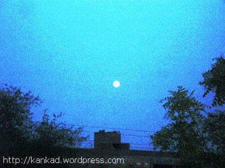 थार में एक शाम को निकलता चांद .. बच्चों की अनेक कहानियां चांद के आस पास भी गढी गई हैं.