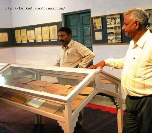 बीकानेर संग्रहालय में तैस्सीतोरी अभिलेख कक्ष का एक दृश्य. इस कक्ष की सामग्री हजारी बांठिया ने दी है.