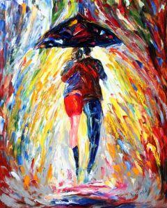 24 x 30 Rainy Romance a